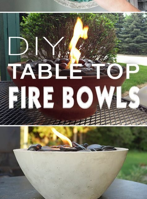 We can't get enough of these DIY fire bowls! Anyone else want to try these for summer?