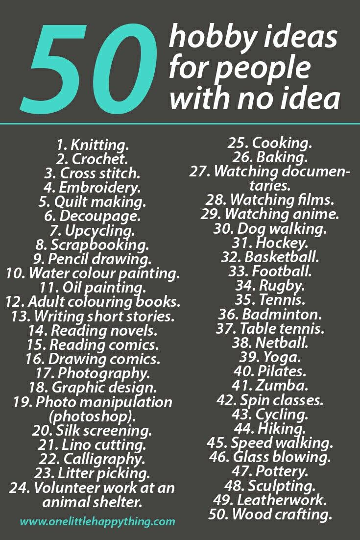 50 hobby ideas for those who have no idea | self improvement