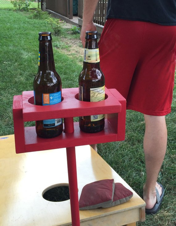 Drink holder, family reunion, cup holder, party games, cornhole, backyard games, gift, camping, drink stand, football, tailgate, outside