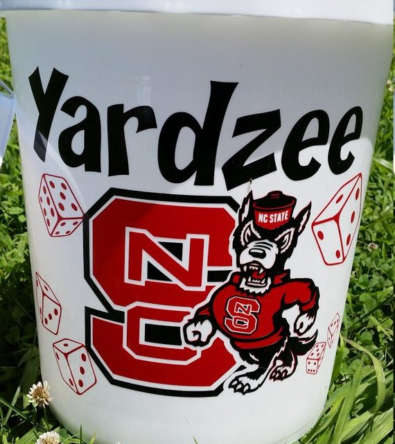 BUCKET ONLY with sport logo ! Yardzee, Farkle, Lawn Dice, Yard Game, Yard dice, Lawn Game, family game, outdoor game