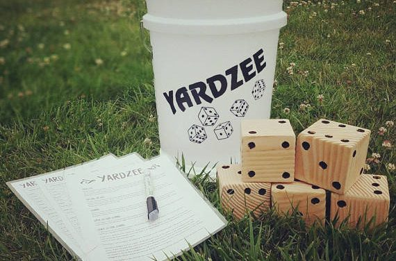 Yardzee | Giant Yahtzee | Wedding Game | Oversize Yard Game | Lawn Dice | Yard Yahtzee | Yard Games | Lawn Games | Outdoor Games