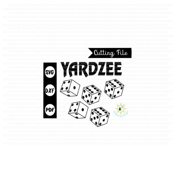 Yardzee SVG kit Yardzee dice game  template bundle family yard game summer fun Yardzee stencil SVG silhouette cricut svg file