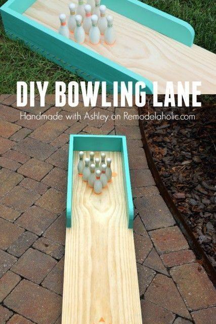 DIY Indoor-Outdoor Bowling Lane