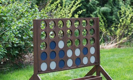 20+ DIY Yard Games that are perfect for summer entertaining, like this Giant Four in a Row from Build-Basic.com! These awesome lawn games