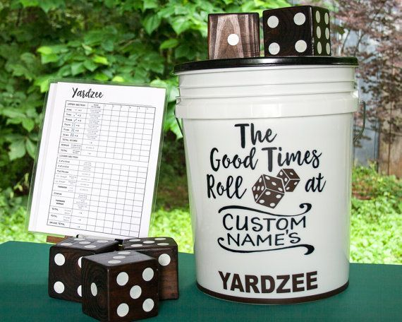 YARDzee PERSONALIZED yahtzee, family yard game, giant Yahtzee, yard dice, Yatzee lawn dice game, yard yahtzee, wedding party July 4th gift