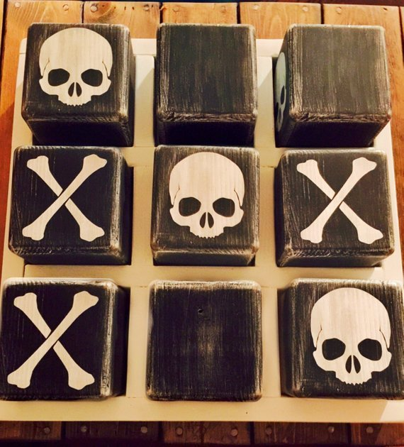 Yard size Halloween Tic Tac Toe game – Outdoor games – Home Decor – Holiday Decor – Reception – Family reunion – Halloween decoration – Gift