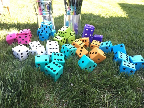 Yardzee, Lawn Dice, Yard Games, Outdoor Games, Lawn Games, Yard Dice, Jumbo Dice, Dice, Giant Dice, Family Games