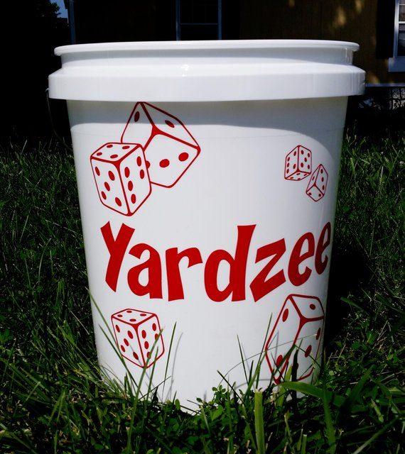 BUCKET ONLY! Yardzee, Farkle, Lawn Dice, Yard Game, Yard dice, Lawn Game, Wedding Reception Game, Outdoor Wedding, family game, outdoor game
