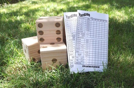 Yardzee, Yahtzee, Yard Dice, Farkel, Tailgate, BBQ, Family Games, Family Events, Games, Camping, Beach
