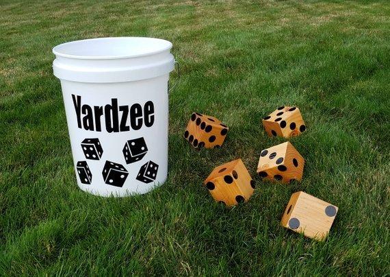 Yardzee, Yard Dice, Reunion, Family, Camping, Lawn game, Outdoor Yahtzee game, Farkle, Summer Fun, housewarming, wedding, graduation
