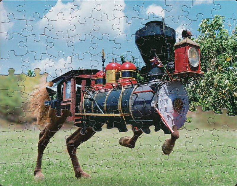 Jigsaw Puzzle Mashups by Tim Klein (9 Photos)