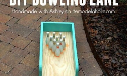 DIY indoor-outdoor bowling lane for kids play /Remodelaholic/ /ericdvd/ #WoodworkingProjectsBeginner