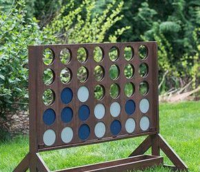 Love Connect Four? You'll love it even more when you can play it outside, thanks to the DIY genius of Build Basic blogger Jenn. Get the