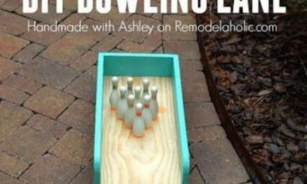 DIY Indoor-Outdoor Bowling Lane Tutorial via Remodelaholic – a great DIY project that you and the family can use indoors now, and then move