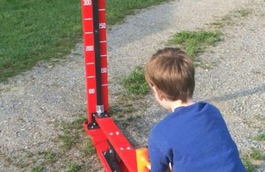 Kid Sized High Striker Strong Man Carnival Game. Perfect for Trade Show, Rental, Birthday, Church, V