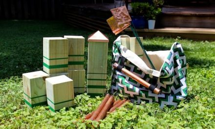 Kubb is one of the most entertaining backyard games we've seen. Mandy Pellegrin shows how to DIY your own kubb set that's as pretty as it