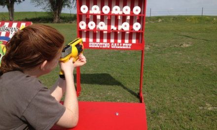 Truly a Carnival Classic! Compatible with cork guns, Nerf guns or toy crossbows, this shooting gallery will be the hit of your event!