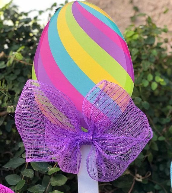 Celebrate Easter with these cute Easter Egg Lollipops!! Great for yards, patios … – #Celebrate #Cute #Easter #Egg #great #Lollipops