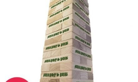 Personalized Irish Pub Style Topple Tower – Giant Lawn Game – Giant Block Game – Yard Game – Outdoor Games – Indoor Games