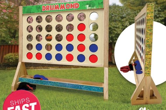 Personalized Jungle Family Giant Fast Four Game with Travel Bag – Giant Connect 4 – Outdoor Lawn Game – Jumbo Connect Four – Big Connect 4