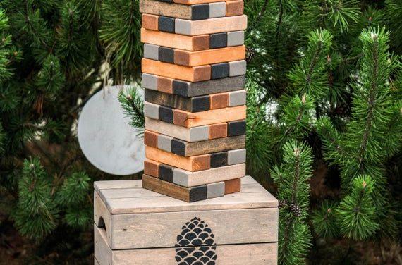 Tumbling game, Wooden block tower, Big tower game, Tumbling tower, Tower blocks, Indoor & Outdoor game, Lawn game, Family yard game