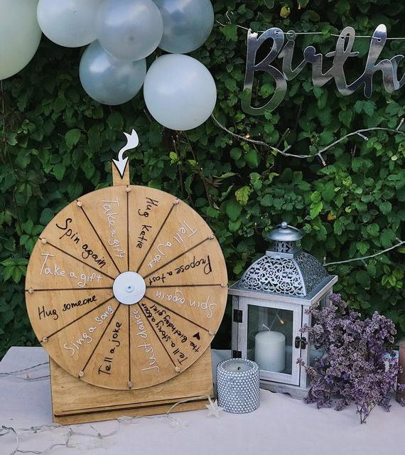 Dry Erase Spin Wheel Game, Outdoor & Indoor Activity for Guests, Prize Wheel, Decision Maker