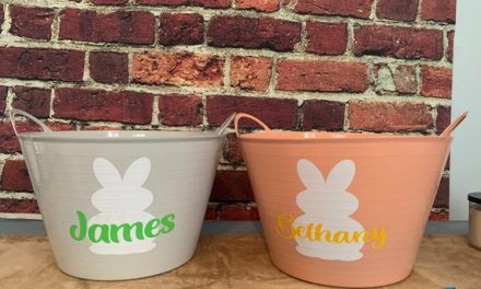 Personalized Easter Buckets- spring colors
