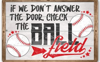 "Check The Ball Field – Durable Metal Sign – 8"" x 12"" or 12"" x 18"" Use Indoor/Outdoor –  Gift for Baseball Fans"