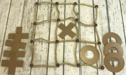 Wooden Tic Tac Toe Game – Traditional Wooden Lawn Outdoor Game – Family Friends Outdoor Game