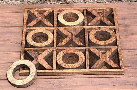 """Large Personalized Tic-Tac-Toe Board Game!  Custom Outdoor/Indoor Board Game! 14""""X14"""" Tabletop Tic Tac Toe"""