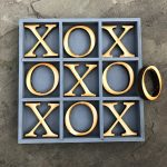 """Handcrafted Tabletop Tic-Tac-Toe Board Game!  Custom Board Game! 10""""X10"""" Tabletop Tic Tac Toe"""