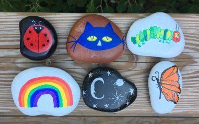 Treasure Hunt Game for Kids, Set of Six Hand Painted Rocks, Fun Indoor & Outdoor Activity, Unique Yard Game
